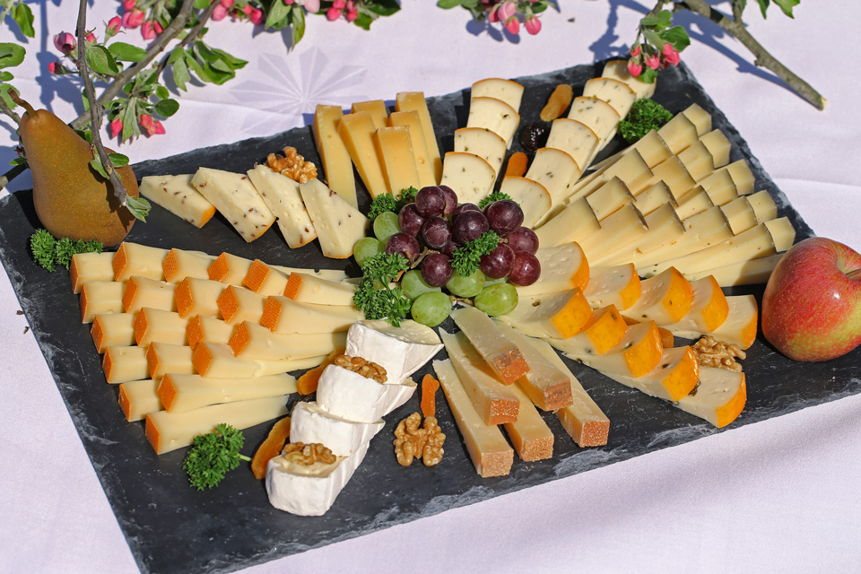 Feiern auf dem Bangshof, eigene Käsespezialitäten